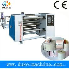 Machine de rembobinage à découpage de papier, rebobinage de papier papier à fax, rebobinage de papier autocopiant (DK-FQ)