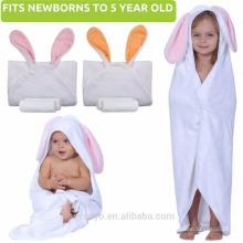 Duschgeschenk für Mädchen oder Jungen Neugeborenen | Großes niedliches Tier Hood No Cotton hochwertiges Baby Handtuch mit Kapuze