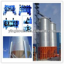 Máquina de fabricación de silos de acero en espiral para la construcción del almacenamiento