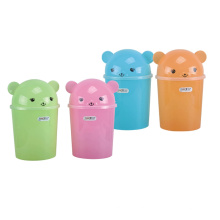 Colorful Flip-on Plastic Dustbin (A11-5019)