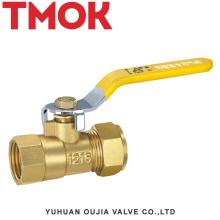 Válvula de bola del alambre interno del tubo de aluminio de cobre amarillo