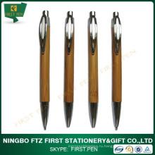 Пользовательская бамбуковая шариковая ручка и карандаш