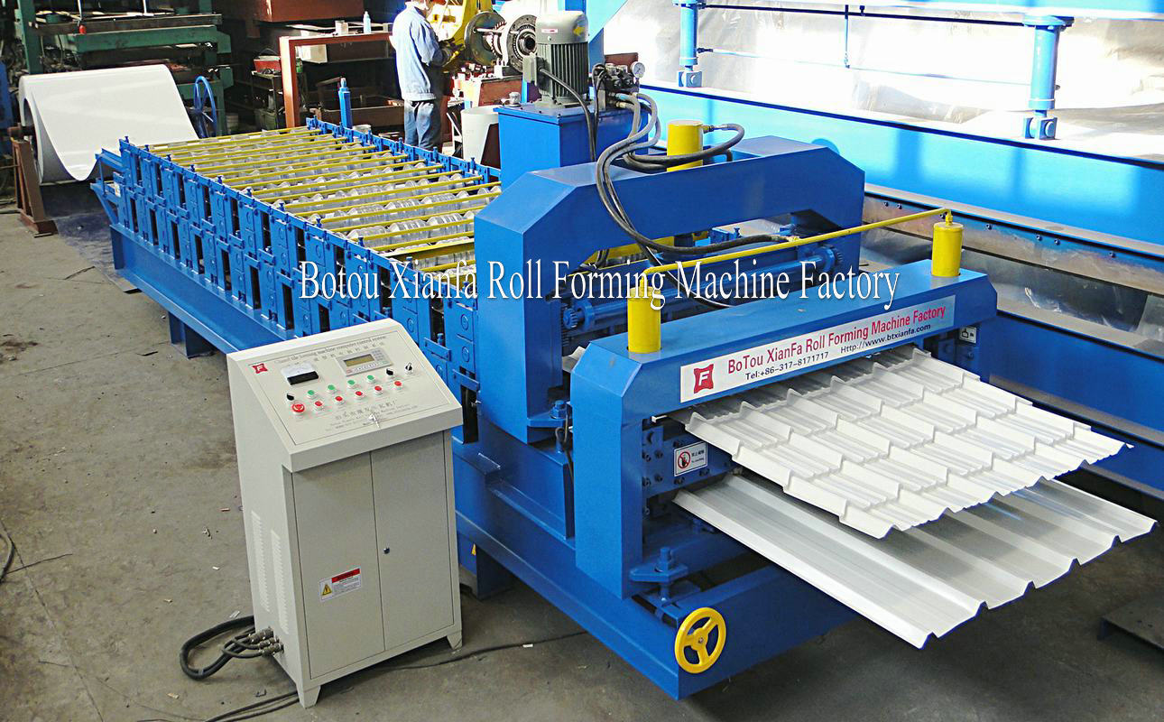trapezoidal and glazed rolling machine