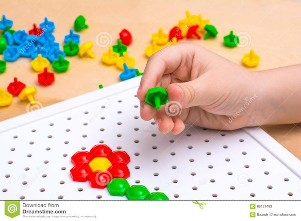 Children Mosaic S Plastic Colour Scattered White Board 66131493