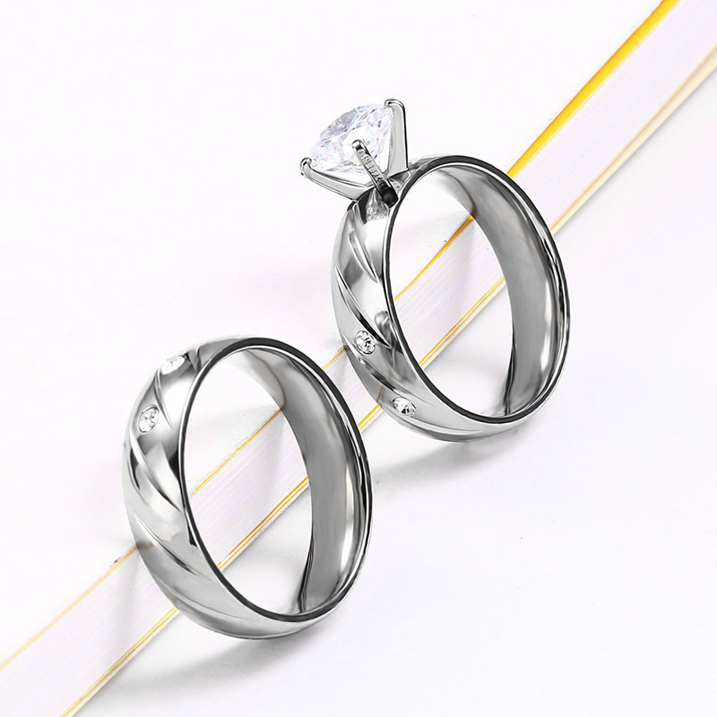 Engagement And Wedding Ring Set