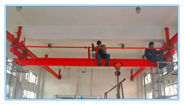 manual operated single girder overhead crane