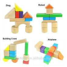OEM coloridos bloques de madera de educación