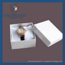 Boîte d'emballage de carton de montre blanche (CMG-PJB-136)
