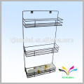 Wall hanging 3 tiers placing bathroom products metal modern display shelf