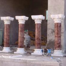 decoración de lujo de piedra tallada columnas de bodas de mármol al por mayor