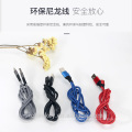 Hot Selling USB Cable Android Type-C Charger Super-Durable Nylon-Braided Micro USB cable for all mobile phone