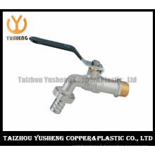 Commutateur de tuyau d'eau en laiton nickelé avec poignée en fer (YS4004)