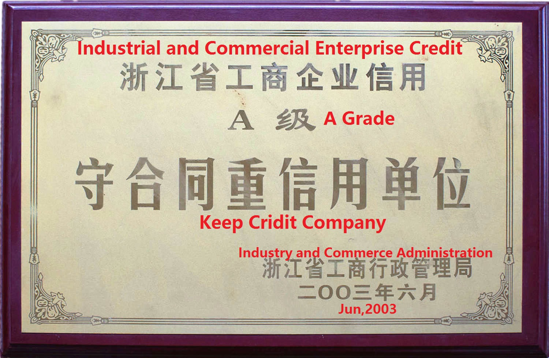 2003 A Grade certificate