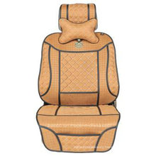 Leatherette Car Seat Cover Flat Shape Cushion with Inclined Cross