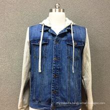 Men's cotton denim double pocket casual jacket