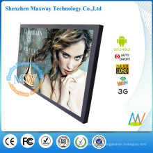 Android OS 32 inch LAN/WiFi/3G network advertising display