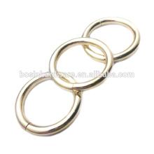 Moda de alta qualidade de aço de metal anel redondo
