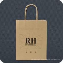 Sac de shopping en papier Kraft de luxe avec logo