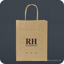 Роскошная сумка для крафт-бумаги с логотипом