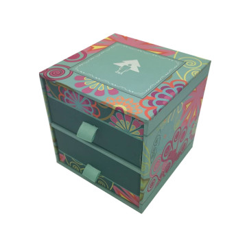 Europe style for Boutique Paper Gift Box Hot-stamping LOGO ribbon handle Drawer craft box supply to Russian Federation Importers