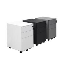 Free Shipping Steel Mobile Pedestal Manufacture 3 Drawer Locking File Cabinet