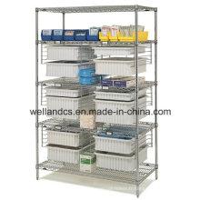 Support de stockage en métal chromé réglable NSF pour hôpital (CJ12045180A5C)