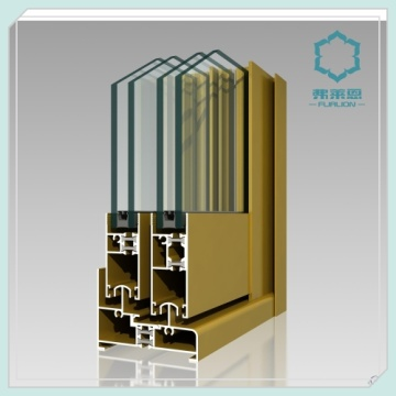 Perfis de alumínio moldado janela de vidros duplos