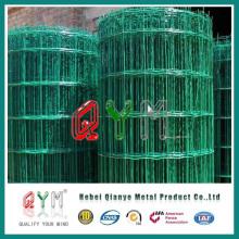 Malla de malla de alambre verde Ral6005 / malla recubierta de PVC