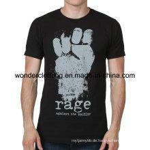 Das heiße Großhandelssommer-T-Shirt der kühlen Mode-Siebdruck-Männer