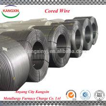 Venda quente inoculante c cored wire / carbon cored wire usado na fabricação de aço