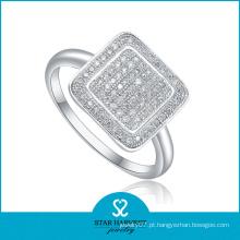 Anel de dedo de prata liso (SH-R0013)