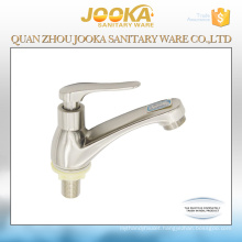 Single lever cold water brushed bathroom faucet