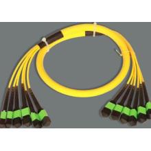 Cabo de remendo óptico da fibra do tronco de Singlemode 76cores de MPO-MPO