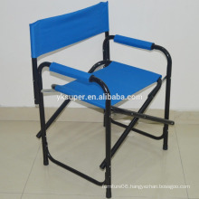 Blue color portable outdoor chair, folding director chair