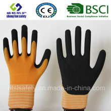 15g Nylon/Spandex Latex Frosted Gloves, Sandy Finish Safety Work Gloves (SL-RS303)