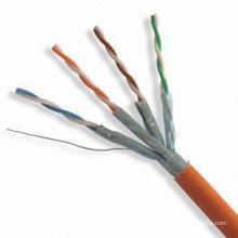 Câble Ethernet CAT6A haut de gamme avec 10g de données 500MHz Cuivre exempt d'oxygène