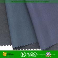 Tissu Poly Pongé en Soie Composite Noir pour Veste