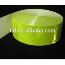 Cinta de alto brillo, fluorescente amarilla para prendas de seguridad, ANSI / ISEA 107 Nivel 2 RT-PVCL2-FLY