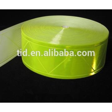Hochglänzendes, fluoreszierendes gelbes Band für Sicherheitsbekleidung, ANSI / ISEA 107 Level 2 RT-PVCL2-FLY