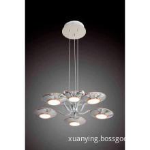 6-Light Mirror Shaped Acrylic Pendant Lamp Shade For Home Lighting