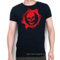 Custom Cotton Screen Printing Grey Summer Wholesale Men T Shirt