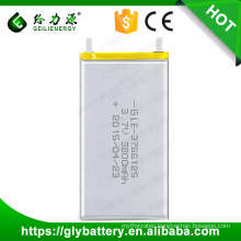 GLE-3766125 Rechargeable Polymer Li-ion Battery 3.7V 3800mAh