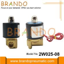 Electroválvula eléctrica de latón de 1/4 '' 2W025-08 24VDC 220VAC