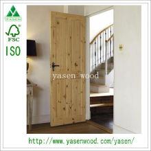 Le meilleur prix 4 porte intérieure en bois de pin de panneau