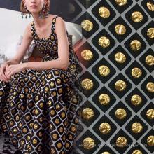 Super Gold Brokat Jacquard Stoff für Kleidung