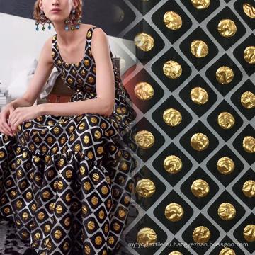 Жаккардовая ткань Super Gold Brocade для одежды