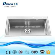 Aço inoxidável 10/18 níquel grau superior mão construído prato pia R15 raio de lavagem