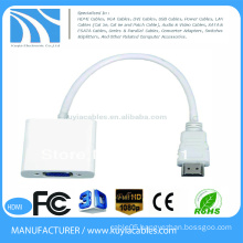 15cm mini hdmi to vga converter adapter HDMI male to vga female for Tablet PC to Projector