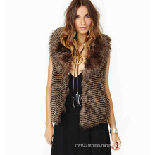 Women Sleeveless Faux Fur Vest Fashion Design Warm Coat