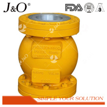 Válvula de pellizco de aleación de aluminio industrial AISI con brida